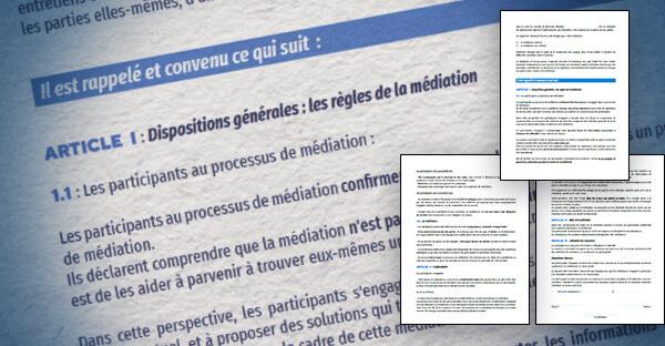 modèle convention de médiation conventionnelle